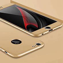 Чехол GKK 360 для Iphone 6 Plus / 6s Plus Бампер оригинальный с вырезом накладка Gold
