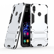 Чехол Iron для Huawei P Smart Plus / Nova 3i / INE-LX1 бронированный Бампер Броня Silver