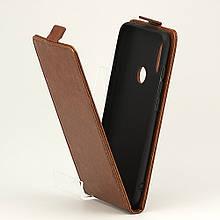 Чехол Idewei для Xiaomi Redmi Note 6 Pro Флип вертикальный кожа PU коричневый