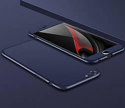 Чехол GKK 360 для Iphone 6 Plus / 6s Plus Бампер оригинальный без выреза накладка Blue