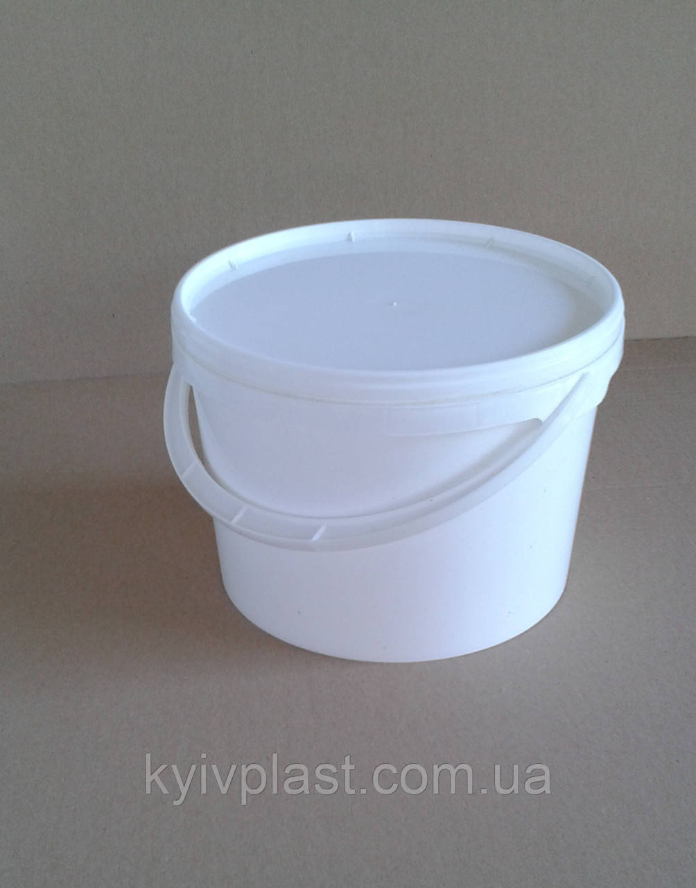 Ведро пластиковое пищевое 10л белое