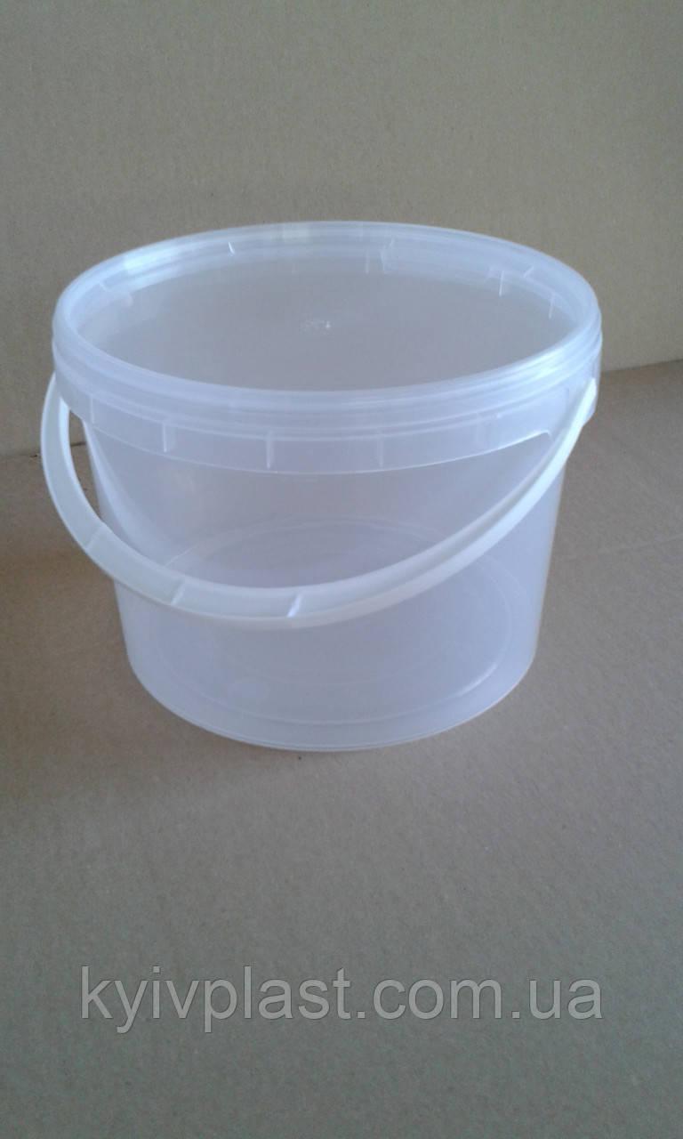 Ведро пластиковое пищевое 10л прозрачное