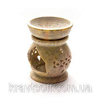 Аромалампа из мыльного камня (9,5х7х7 см) (26616)