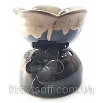"""Аромалампа керамическая """"Цветок"""" коричневая (11х11х12 см) (32227)"""