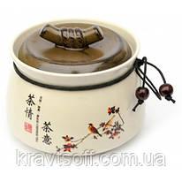 Баночка для чая керамическая (500 мл.) (10х12,5х12,5 см) (30865)