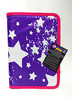 """Пенал для школи твердий """"Starry Violet"""", 1 відділення з 1 відворотом CF86605, фото 1"""