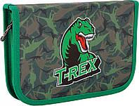 """Пенал для школы твердий """"Dinosaur"""", 1 отделение"""
