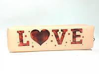 """Пенал силиконовый непрозрачный цветной с надписями """"LOVE"""", фото 1"""