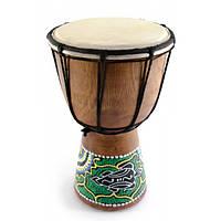 Барабан джембе расписной дерево с кожей (20х11.5х11.5 см) (30255)