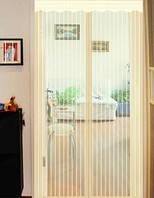 Антимоскитная сетка шторка на сплошных магнитах для дверей 100 х 210 ассортимент цветов Magic Mesh Айвори, фото 1