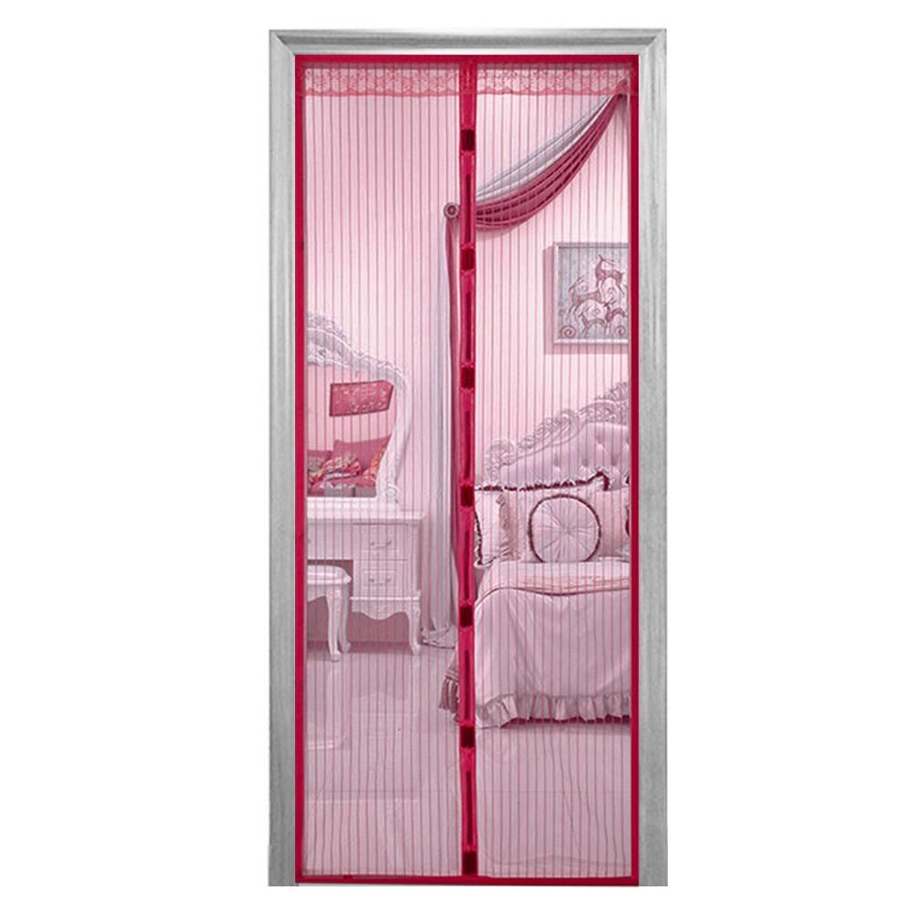 Антимоскитная сетка шторка на сплошных магнитах для дверей 100 х 210 ассортимент цветов Magic Mesh Бородо