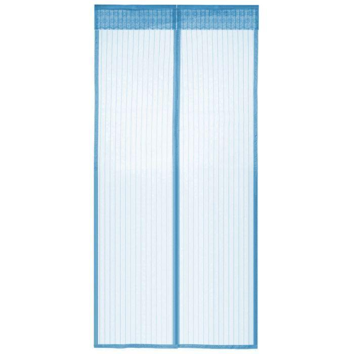 Антимоскитная сетка шторка на сплошных магнитах для дверей 100 х 210 ассортимент цветов Magic Mesh Голубой