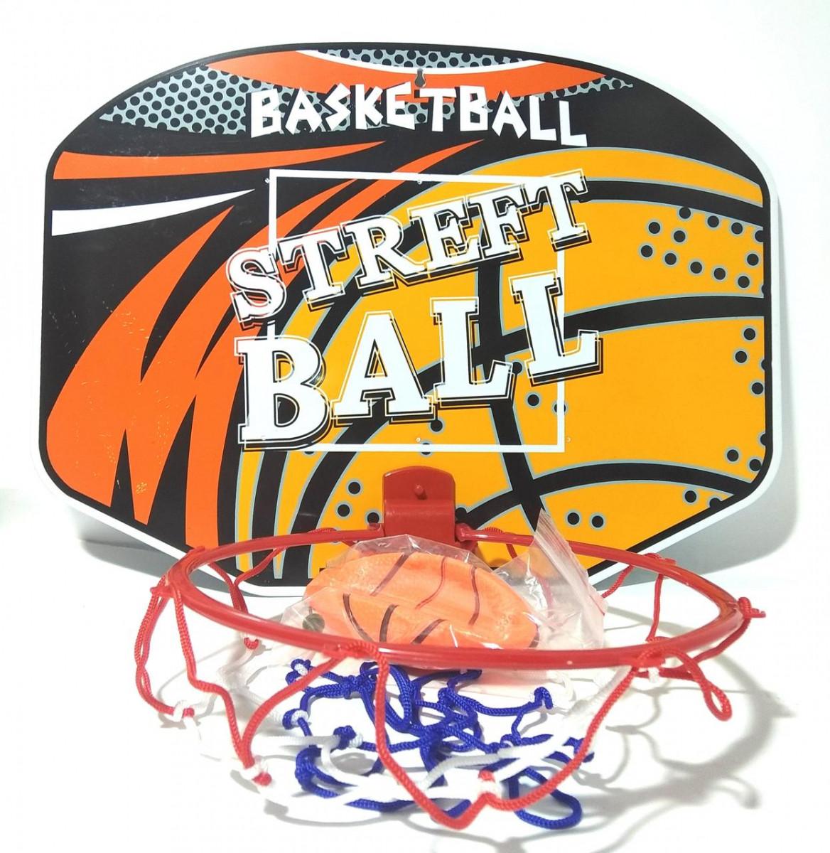 Баскетбольное кольцо M 5436 (144шт) щит, кольцо 21см, сетка, мяч 11см,игла в сетке,40-30-2см