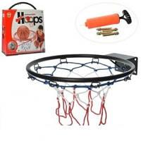 Баскетбольное кольцо M 5966 металл, 39см, сетка, мяч, насос, в коробке 40-44-9см