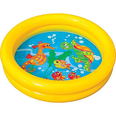Бассейн 59409 круглый, детский, 61-15см,2 кольца,1-3 года,рем компл в кульке,25-25-3см