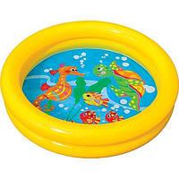 Бассейн 59409 круглый, детский, 61-15см,2 кольца,1-3 года,рем компл в кульке,25-25-3см, фото 1