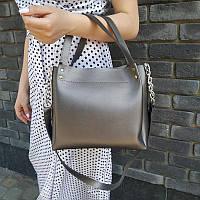 """Стильная женскаяповседневная сумка """"Аманда2 Silver Gray"""", фото 1"""