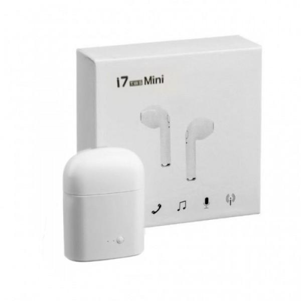 Беспроводные Bluetooth наушники MDR Double iphone I7-mini copy (5327) 5,0 ВТ с кейсом - повербанком