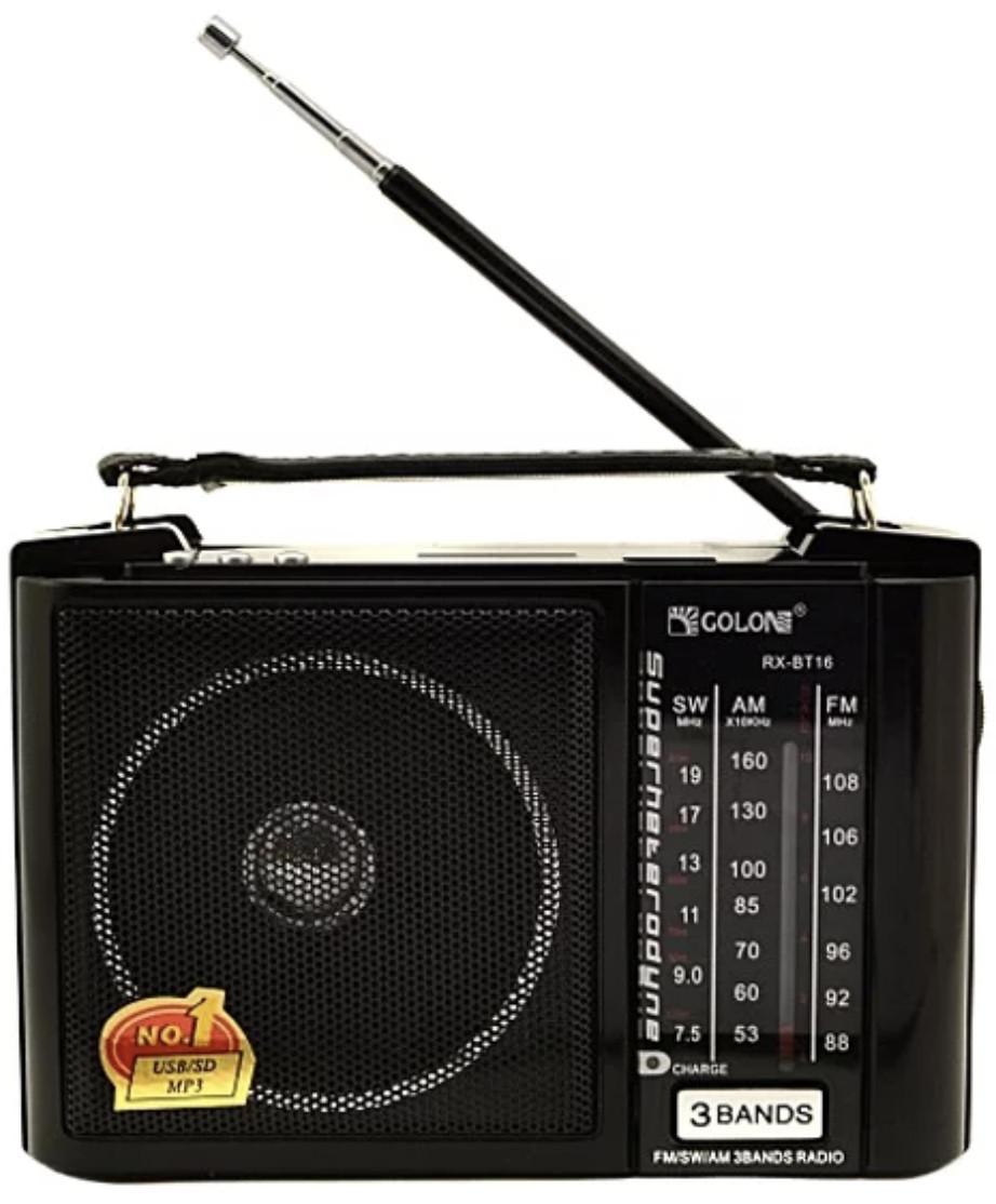 Радиоприёмник Golon с USB плеером RX BT16 USB/SD/BT 3 диапазона music player АКБ батарейки сеть