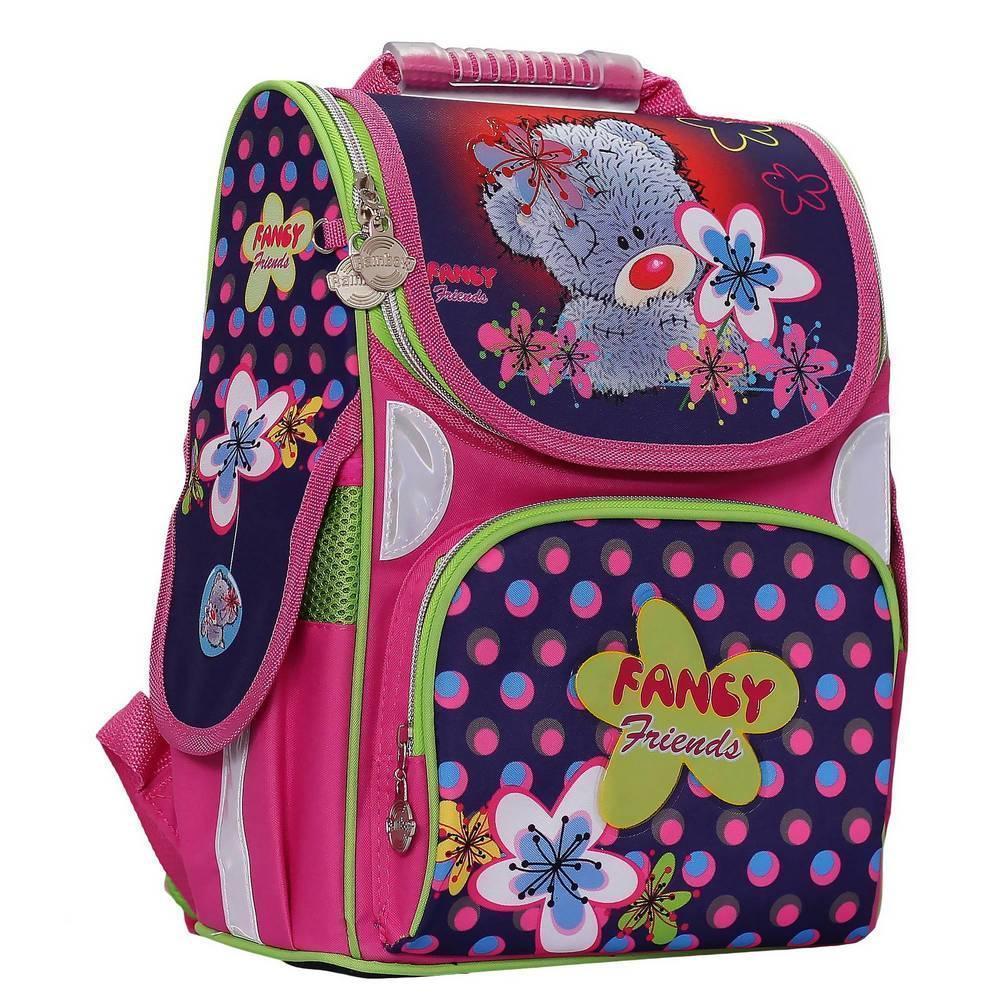 Ранец с мишкой для девочек Rainbow арт. 8-502