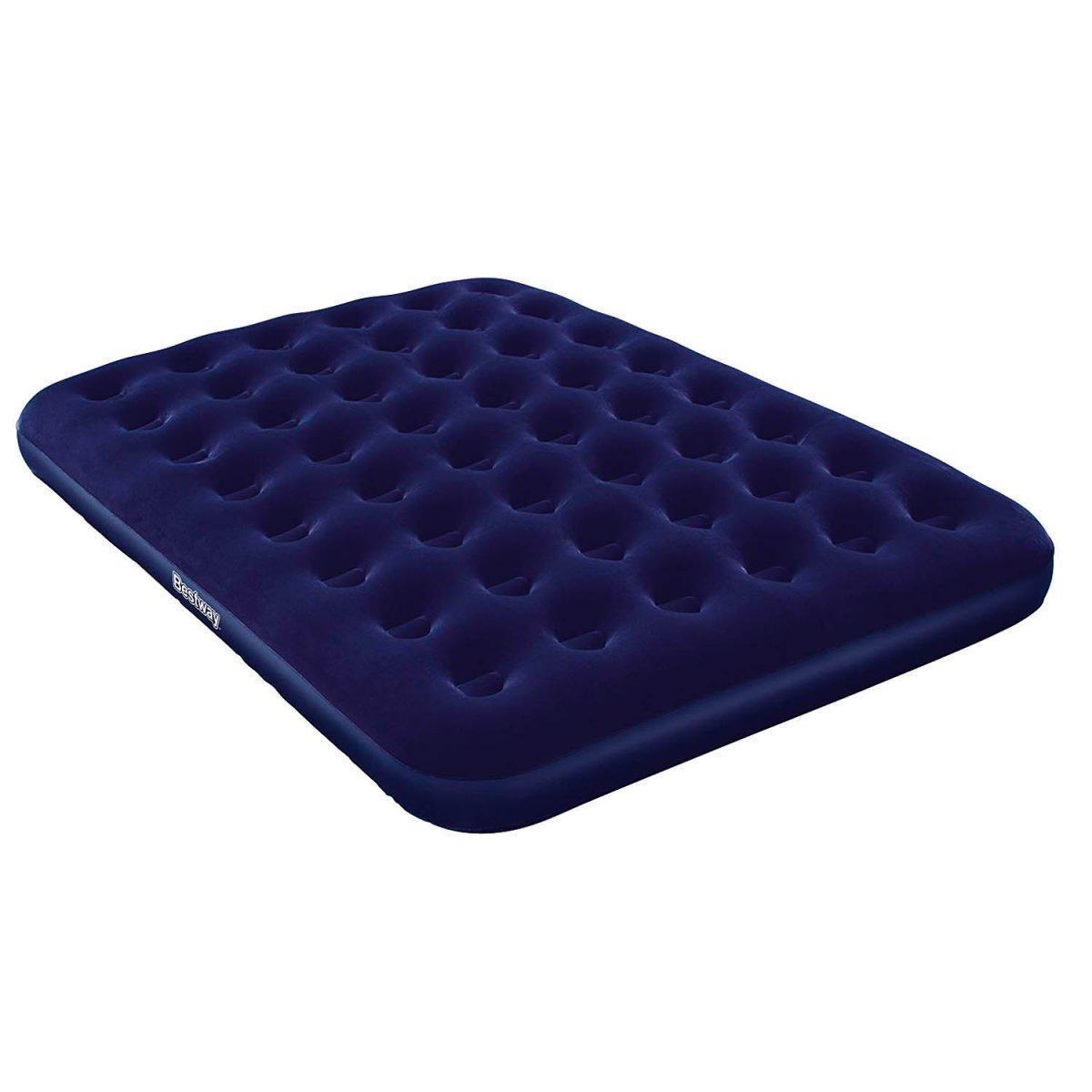 Велюр матрац 2-спалка Best Way BW 67003 синий, 203-152-22см