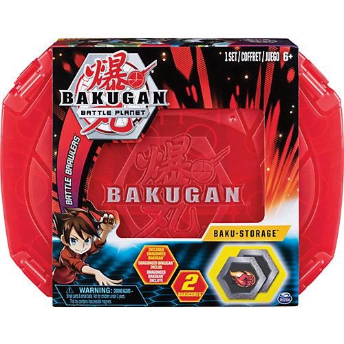 Игровой набор Кейс-бокс для хранения Бакуган (Красный) + Герой фигурка Baukugan