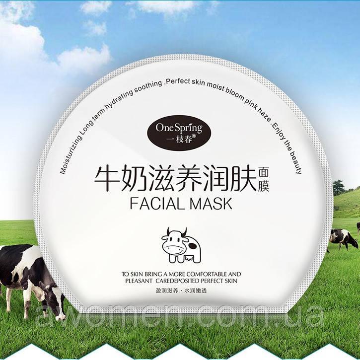 Маска для обличчя One Spring Milk з гіалуронової кислотою і протеїнами молока 30 g