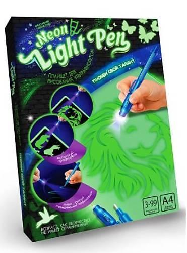 Рисуй Светом Набор креативного творчества Neon Light Pen NLP-01 Dankotoys 22 x 30 см Мальчик