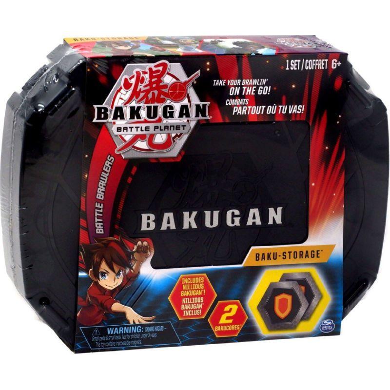 Игровой набор Кейс-бокс для хранения Бакуган (Черный) + Герой фигурка Baukugan