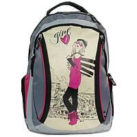Рюкзак Girl сірий/пісочний/рожевий, фото 1