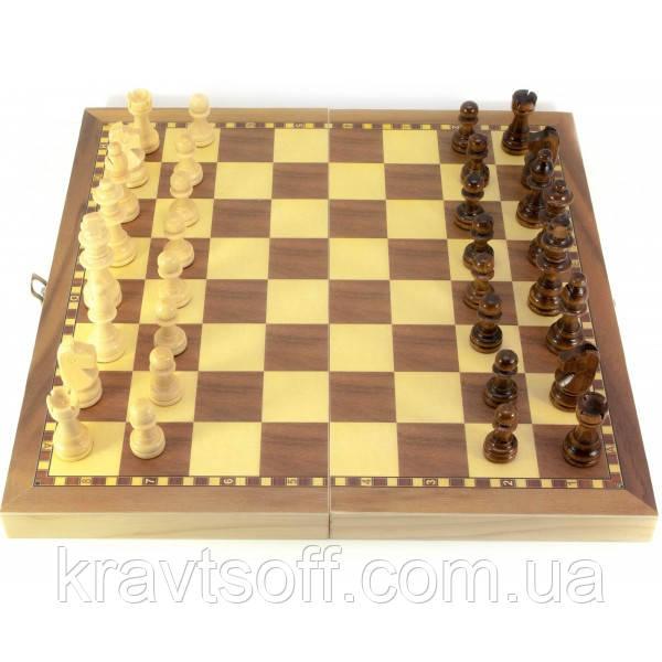 Шахматы деревянные с магнитом (29х29х2 см) (29816)