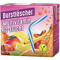 Чай холодный (ледяной) мультивитаминный Durstloscher 500 мл с трубочкой Германия