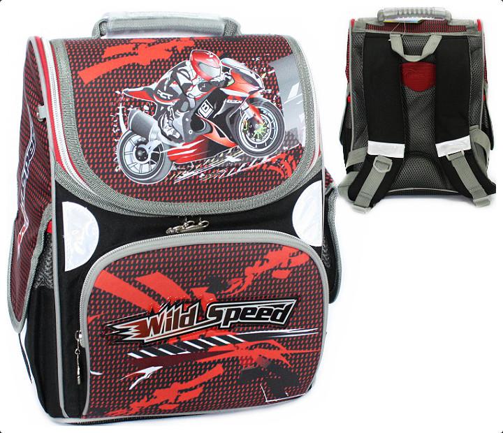 Рюкзак ранец школьный Wild speed RAINBOW 8-516 для мальчика
