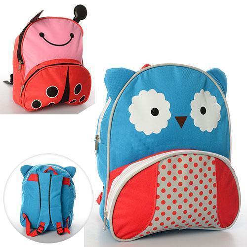 Рюкзак с ушками MK 0735 размер средний, 27-25-7см,1отд, застеж-молния, 1наруж.карман, ушки, 2вида, в кульке