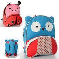 Рюкзак с ушками MK 0735 размер средний, 27-25-7см,1отд, застеж-молния, 1наруж.карман, ушки, 2вида, в кульке, фото 1