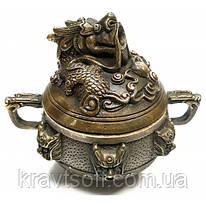 """Курительница бронзовая """"Дракон"""" (9,5х10х8 см) (32045)"""
