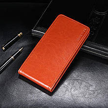 Чехол Idewei для Leagoo M8 / M8 Pro Флип вертикальный кожа PU коричневый