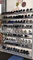 Стеллаж для обуви в магазин 150*130*30 см, натуральное дерево