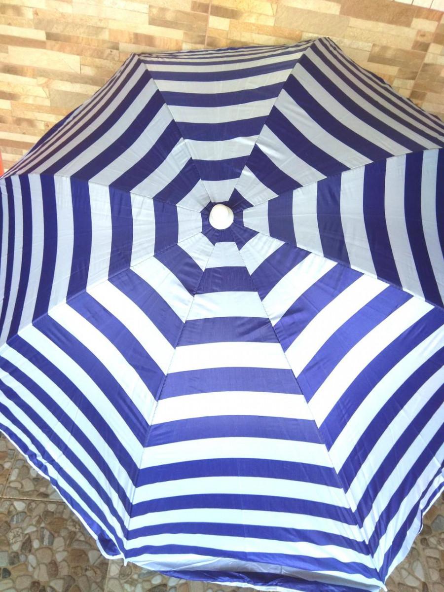 Зонт пляжный соцезощитный диам 1,8м Серебрение наклон 0081Р/2бк Гол-Бел