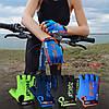 Велорукавички PowerPlay 5029 B Чорно-Зелені M, фото 9