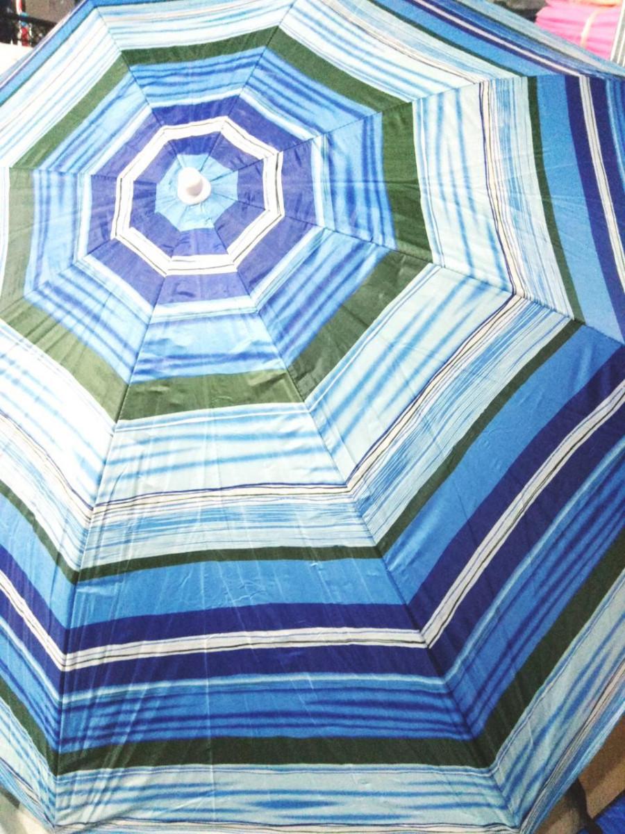 Зонт пляжный торговый садовый диаметр 2 метра с серебрением спица металлическая D2.0m 085 фиолетовый Голубой