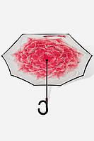 Зонт Розовый ПИОН smart Анти обратного сложения д110см умный зонт зонт наоборот UP-BRELLA