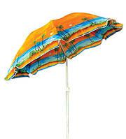 Зонт торгово пляжный диам 2м Серебрение наклон в чехле, фото 1