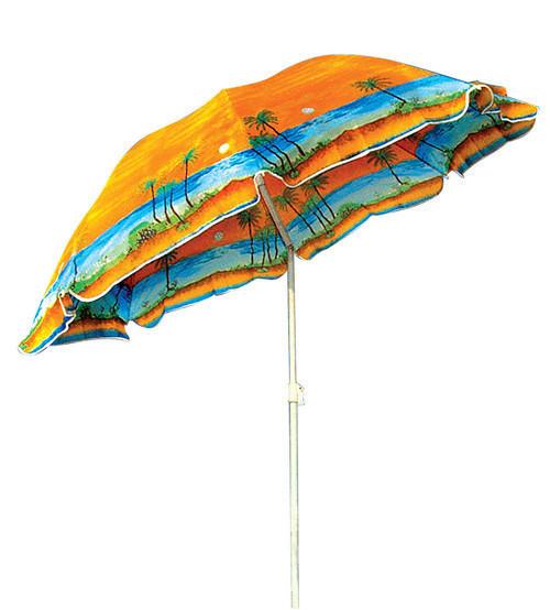 Зонт торгово пляжный диам 2м Серебрение наклон в чехле