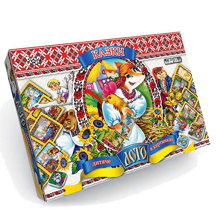 """Игра настольная лото детское """"Сказки"""" настільна гра от Danko Toys 8шт карточек игроков, 48 шт фишек"""