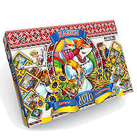 """Игра настольная лото детское """"Сказки"""" настільна гра от Danko Toys 8шт карточек игроков, 48 шт фишек, фото 1"""