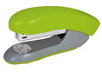 Степлер офисный для бумаги №24/6, 26/6 Economix до 30 листов пластиковый корпус салатовий