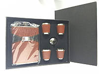 Сувенирный набор фляга и 4 рюмки 260мл R86712