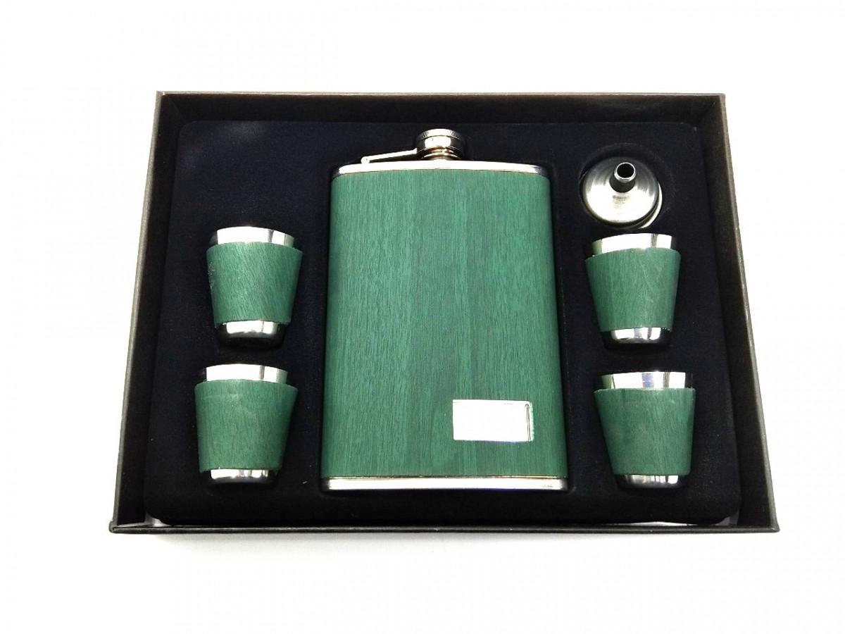 Сувенирный набор фляга и 4 стаканчика STENSON 260 мл (R86711)
