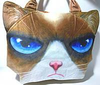 Сумка плюшева Кіт, 29х38 см 3D с принтом животных S-2534 Том